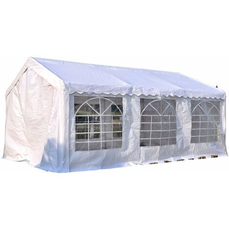 Outsunny gazebo da giardino con pannelli laterali bianco for Stock finestre pvc