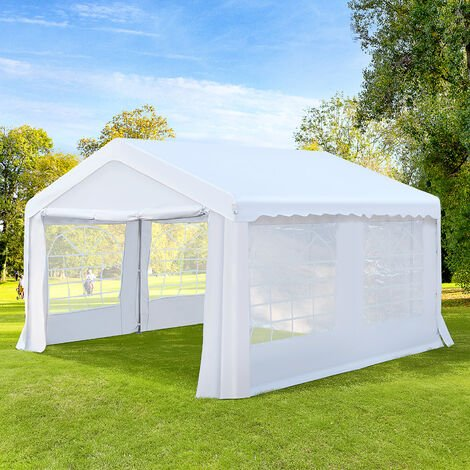 """main image of """"Outsunny Gazebo Marquee Party Tent Wedding Portable Garage Steel Frame Waterproof - 4x4m"""""""