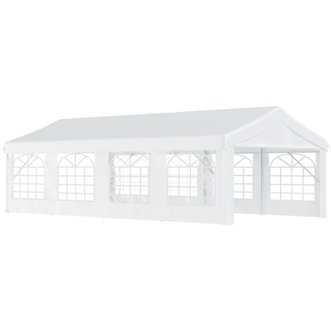 Outsunny Gazebo Marquee Party Tent Wedding Portable Garage Steel Frame Waterproof