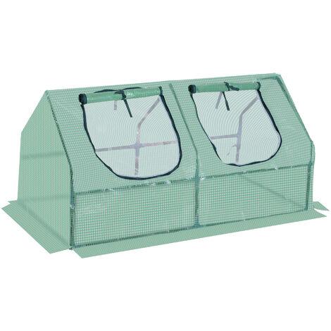 Outsunny® Gewächshaus Tomatenhaus Pflanzenhaus mit Fenster Treibhaus Frühbeet 3 Modelle