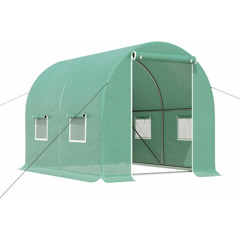 Outsunny Greenhouse Polytunnel Outdoor Walk-in Shed Grow Plant Steel - 3 x 2m