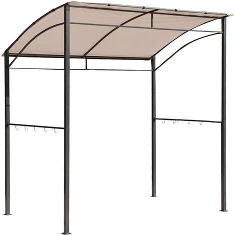 Outsunny® Grillpavillon mit Flammschutzdach 215 x 150 x 180/220cm