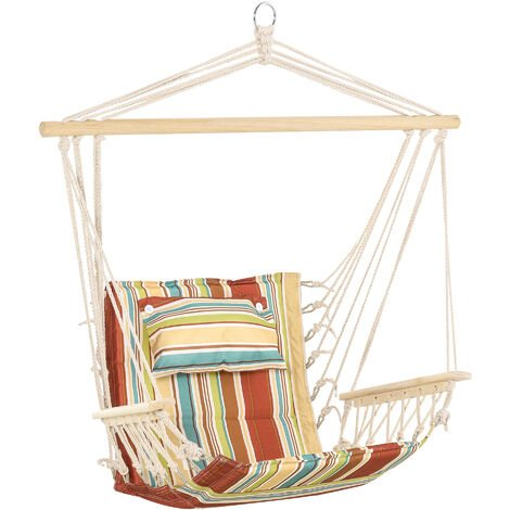 Outsunny Hanging Hammock Swing Chair Safe Wide Seat Indoor Outdoor