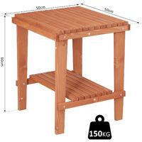 Outsunny® Holzhocker Beistelltisch Blumenständer Kinderstuhl Schemel Allzweck Tannenholz Natur 50 x 50 x 60 cm