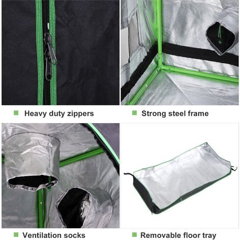 Outsunny Hydroponic Plant Flower Indoor Grow Tent Gardening Room Window 140 x 60cm