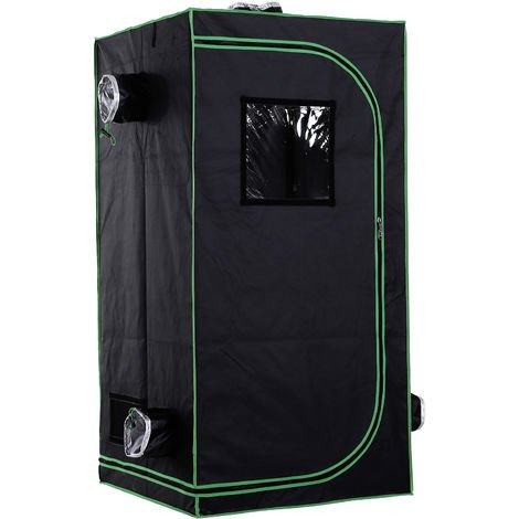 Outsunny Hydroponic Plant Flower Indoor Grow Tent Gardening Room Window 160 x 80cm