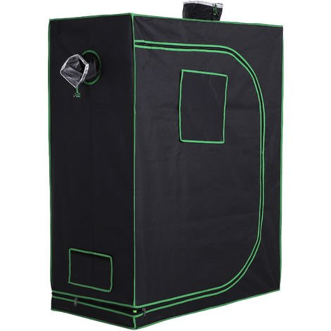 Outsunny Hydroponic Plant Grow Tent Indoor Gardening w/ Window Tool Bag 150x60cm