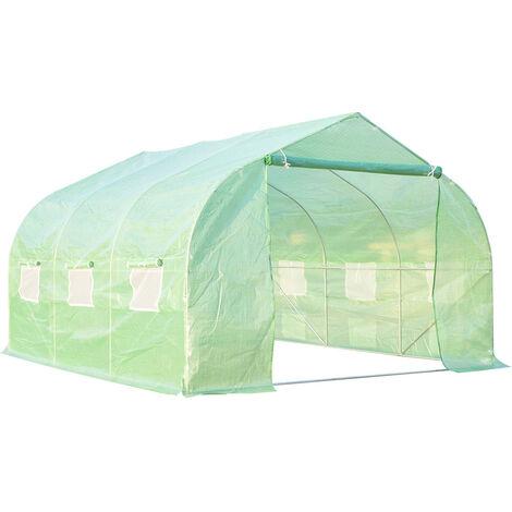 Outsunny Invernadero caseta 350 x 300 x 200 jardin terraza cultivo de plantas semilla