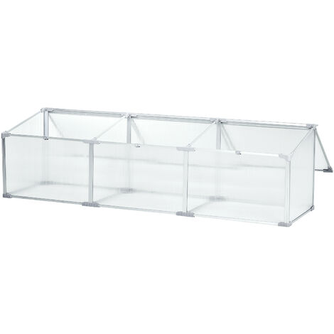 Outsunny Invernadero de Jardín Aluminio Policarbonato Transparente Vivero Casero Plantas - Modelo 2