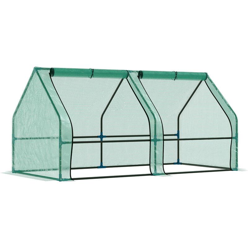 Invernadero de Jardín Terraza para Plantas con Ventanas PE - verde - Outsunny
