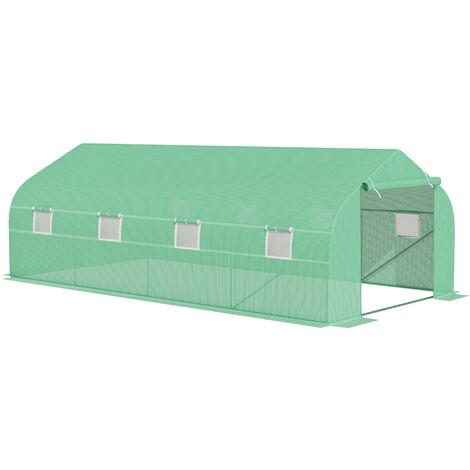 Outsunny Invernadero de Jardines y Huertos Caseta Exterior Cultivos y Plantas 6x3x2m