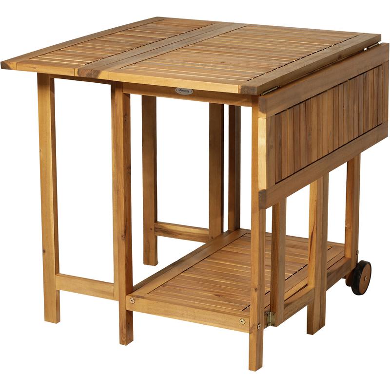 Mesas Plegables De Madera Para Comedor.Outsunny Juego De Comedor Plegable 5 Piezas Conjunto De Mesa Y 4 Sillas De Comedor Madera Para Exterior Jardin Terraza Patio