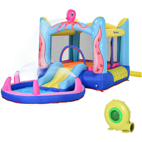 Outsunny Kids Bouncy Castle Slide & Swimming Pool Combo House 3-12 Yrs