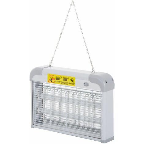 """main image of """"Outsunny Lámpara Anti-mosquitos Lámpara Matamoscas Eléctrica 20W Área 60m² Seguro Eficaz - Gris"""""""