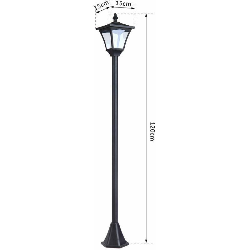 DEL RE NewYork Lampioncino da Giardino Esterno Lampione 200 cm 2 Luci Nero G