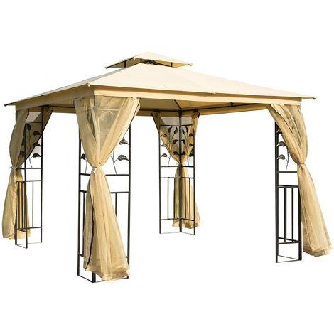 Favorit Outsunny® Luxus Pavillon 3x3 m wetterfest - 01-0874 DJ15