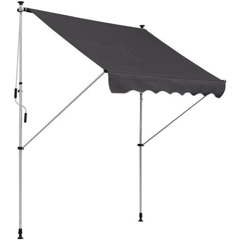 Outsunny® Markise Klemmmarkise Grau 200 x 150cm