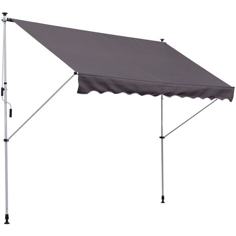 Outsunny® Markise Klemmmarkise Grau 300 x 150cm