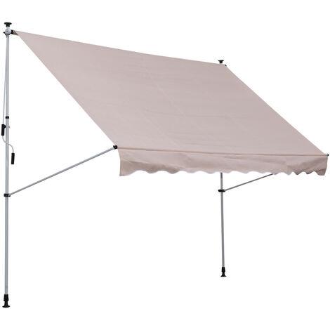 Outsunny® Markise Klemmmarkise Sonnenschutz Beige 200 x 150cm