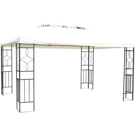 Atemberaubend Outsunny® Metall Gartenpavillon Bierzelt 3x4 m creme - 01-0079 #KT_21