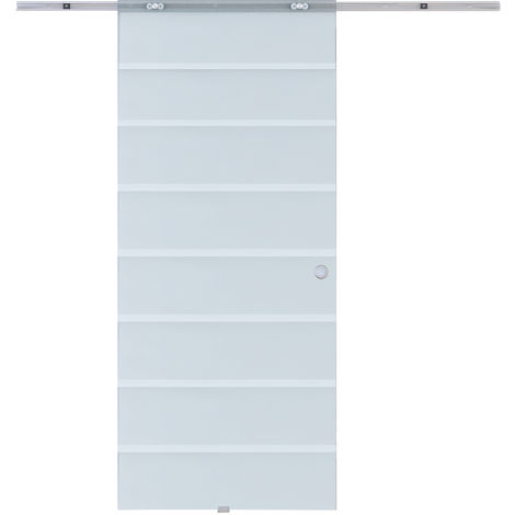 Outsunny Modern Sliding Glass Door Hardware Roller Track System 2M / 6.6ft
