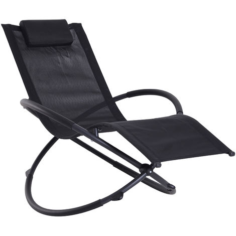 Sensational Outsunny Orbital Sun Lounger Rocking Chair Outdoor Zero Squirreltailoven Fun Painted Chair Ideas Images Squirreltailovenorg