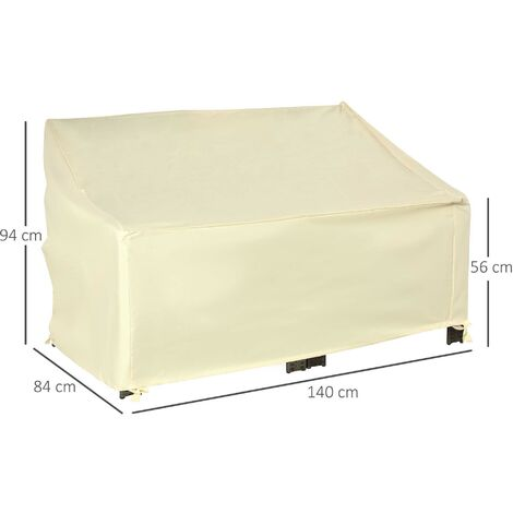 Outsunny Outdoor Furniture Cover 2 Seater Protection Wind Dust Waterproof