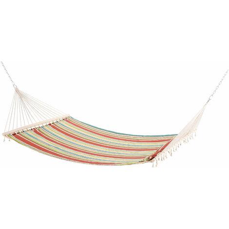 Outsunny Outdoor Garden Cotton Double Hammock Swing Bed Pillow Green