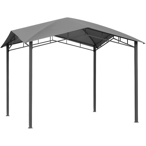Outsunny Outdoor Steel Frame Gazebo Pavilion Canopy Sunshade Grey 3x3(m)