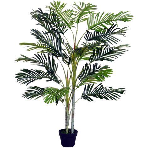 Outsunny Palma Artificial 150cm con Cañas Móviles Árbol Planta Decorativa