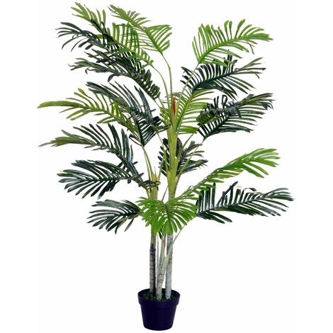 Outsunny Palma Artificial 150cm con Cañas Móviles Árbol Planta Decorativa - Verde