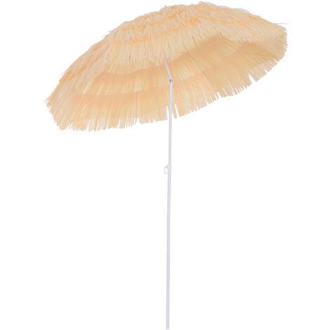Outsunny Patio Garden Hawaii Beach Sun Umbrella Hawaiian Folding Tilt - Yellow
