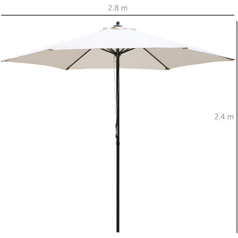 Outsunny Patio Umbrella Parasol Outdoor Parasol Steel Pole UV Water Resistant ?2.8m