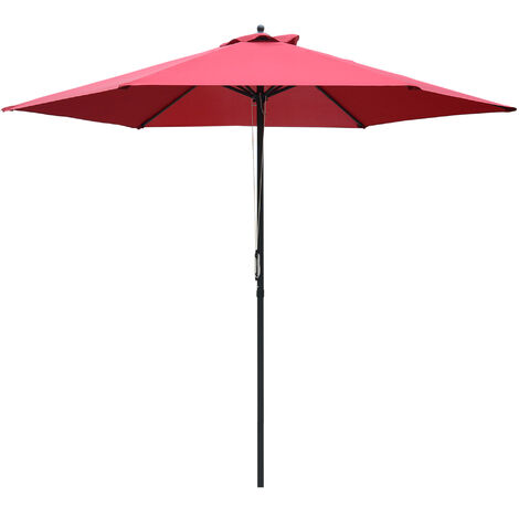 Outsunny Patio Umbrella Parasol Outdoor Parasol Steel Pole UV Water Resistant ?2.8m
