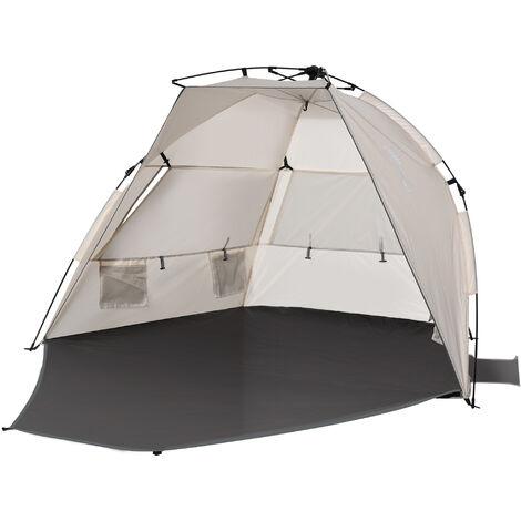 Outsunny Pop-up Beach Tent Outdoor Sun Shelter w/ Extending Floor Summer Adventure
