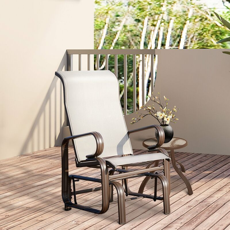 Outsunny Porch Swing Glider Rocker Chair Porch Outdoor