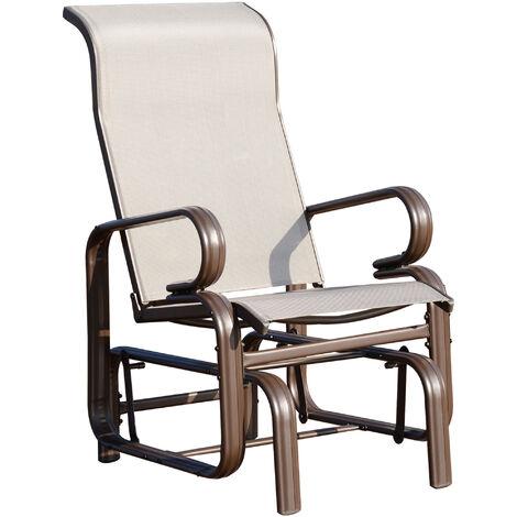 Outsunny Porch Swing Glider Rocker Chair Porch Outdoor Garden Furniture