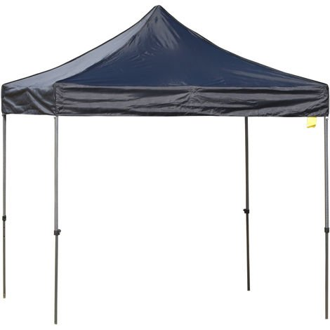 Outsunny Quick Setup Gazebo w/ Metal Frame Weather-Resistant Canopy 3x3m Black