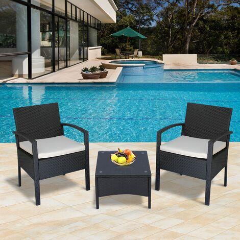 Outsunny set mobili da giardino 3pz set 2 sedie e tavolino for Set mobili da giardino offerte