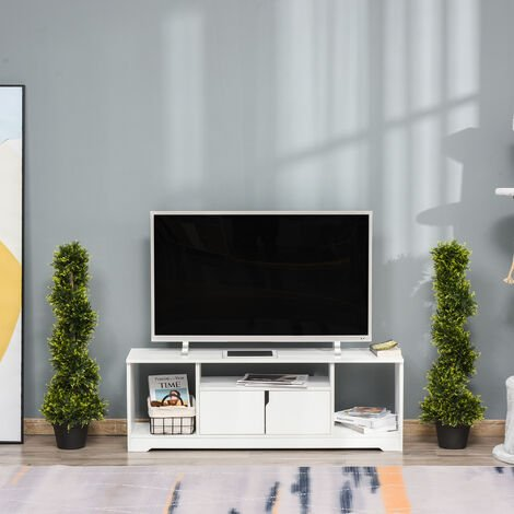 """main image of """"Outsunny Set Of 2 90cm Artificial Spiral Topiary Trees w/ Pot Fake Outdoor Plant"""""""