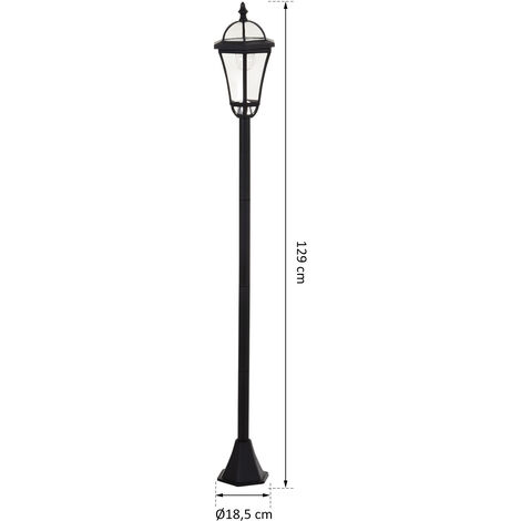 Outsunny Set Of 2 Traditional Lamp Post LED Solar Powered Garden Lights 6-8 Hours