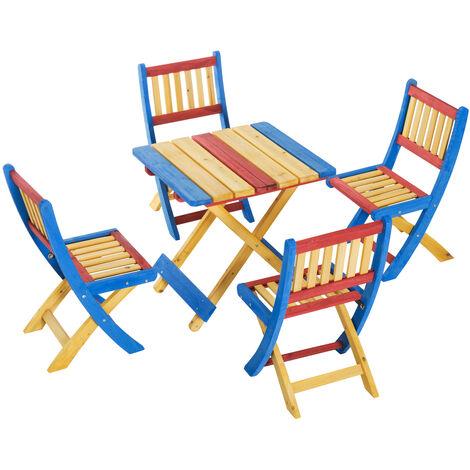 Sedie In Legno Pieghevoli Da Giardino.Outsunny Set Tavolo Da Giardino Con 4 Sedie Pieghevoli Legno Di