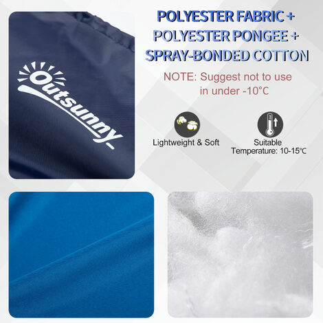 Outsunny Single One Person Mummy Sleeping Bag 3 Season Adults Outdoor Hiking Bed
