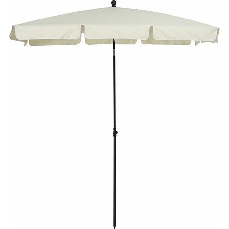 Outsunny Sobrilla Parasol Rectangular Ángulo Ajustable 198x130x240cm En Color Beige - Beige