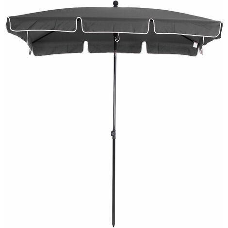 Outsunny Sobrilla Parasol Rectangular Ángulo Ajustable 198x130x240cm En Color Gris - Gris
