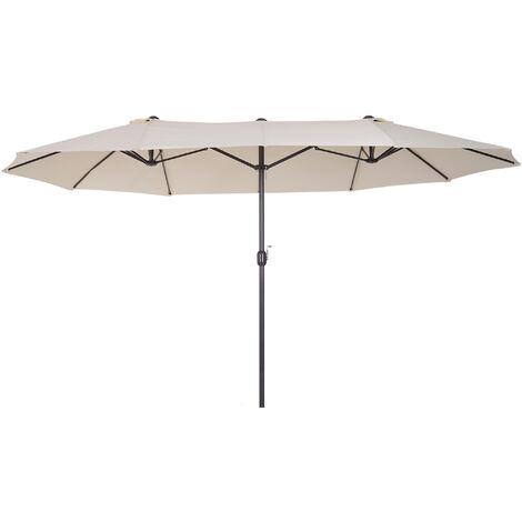 Outsunny Sombrilla Parasol para Jardín Carpas Toldos de Terraza 4.6x2.7x2.4m Beige