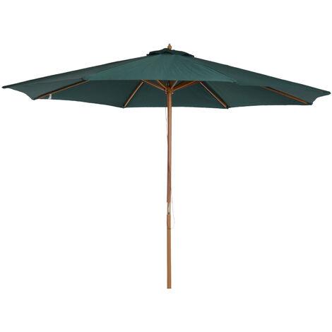 3fb84eb6 Outsunny Sombrilla Parasol Verde mástil de Madera Terraza Playa Jardin  Piscina Camping 3m Diámetro
