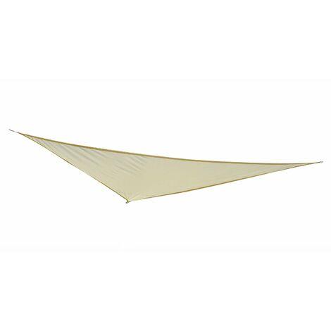 Outsunny® Sonnensegel (Cream 4x4x4m) Dreieck Polyester - wasserabweisend