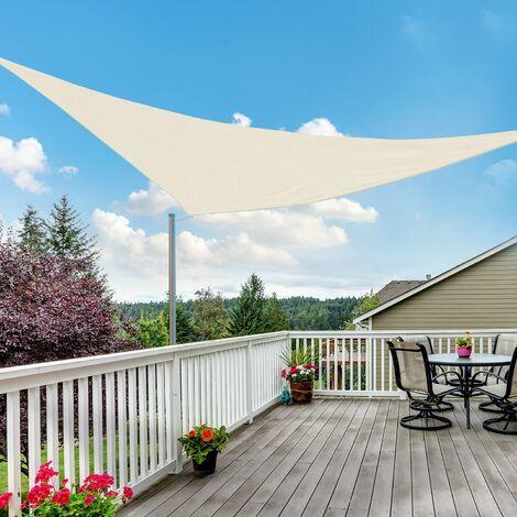 Outsunny® Sonnensegel (cream) Dreieck 3x3x3 m HDPE - atmungsaktiv