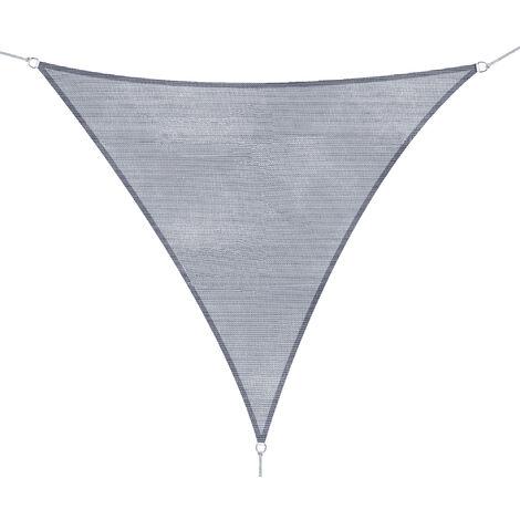 Outsunny® Sonnensegel Grau Dreiecke/4x4x4 m HDPE